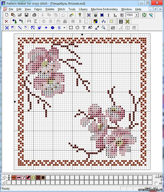 Схема в Pattern Maker for Cross stitch