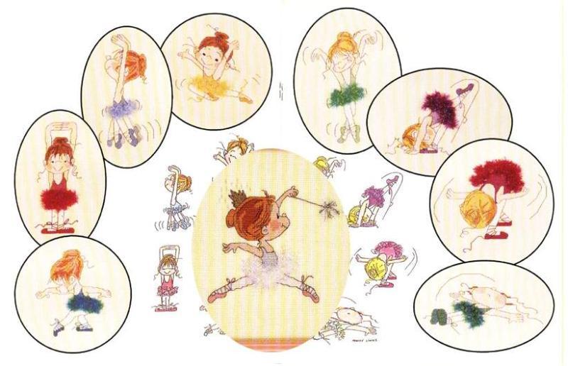 Балеринки - схемы вышивки