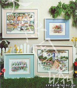 Лето в саду - схемы вышивки