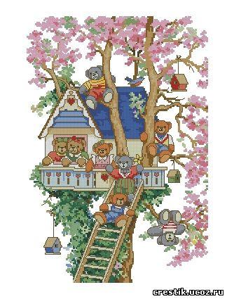 Домик на дереве - схема