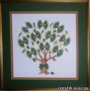 Денежное дерево бесплатная схема вышивки