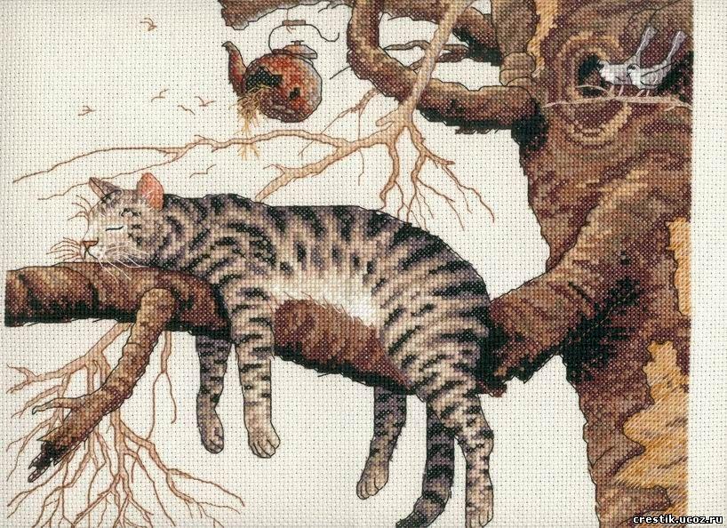 Схема кот у камина