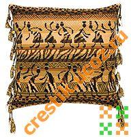Подушка «Наскальный рисунок» - схема вышивки