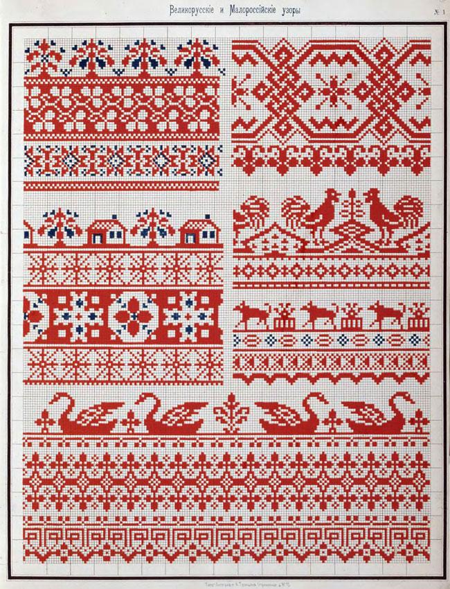 русские узоры вышивки: лебеди,