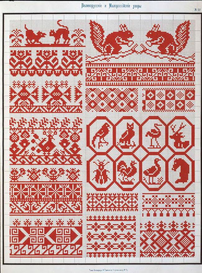 схемы вышивки крестом,