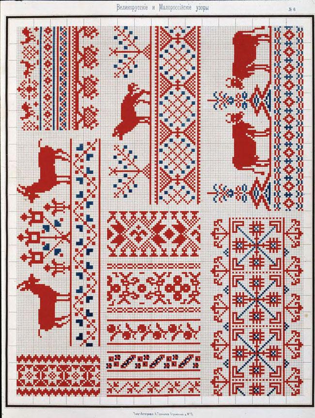 русские узоры: коровы, козы, собаки